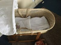 Mosses basket and baby changing