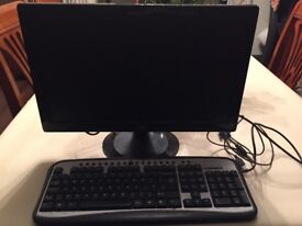 PC Monitor and Keyboard - Excellent Condition £25 ono