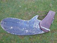 Large vintage boat rudder