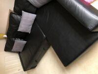 Used Black IKEA FRIHETEN SOFA Bed with Storage