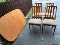 TABLE AND 4 CHAIRS NEEDS SOME GLUE GREAT PROJECT ** FREE DELIVERY AVAILABLE **