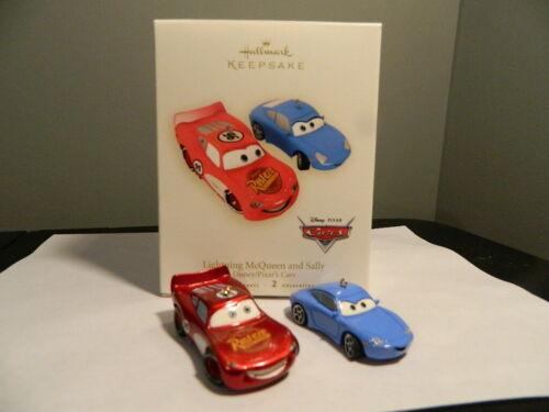 2007 Hallmark Keepsake - Lightning McQueen and Sally Pixar Cars Ornaments