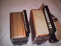 Two Button Keyed Accordions/ Melodeons for sale
