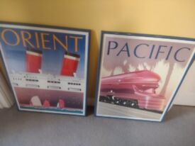 Stylish 1930 style transport/ location prints