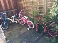 kids bike 14 inch 16 inch and 18 inch
