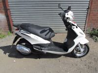2013 PIAGGIO FLY125 3V WHITE DAMAGE REPAIRABLE STOLEN RECOVERED SPARES OR REPAIR