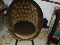 retro armchair in brown 1950's/1960's