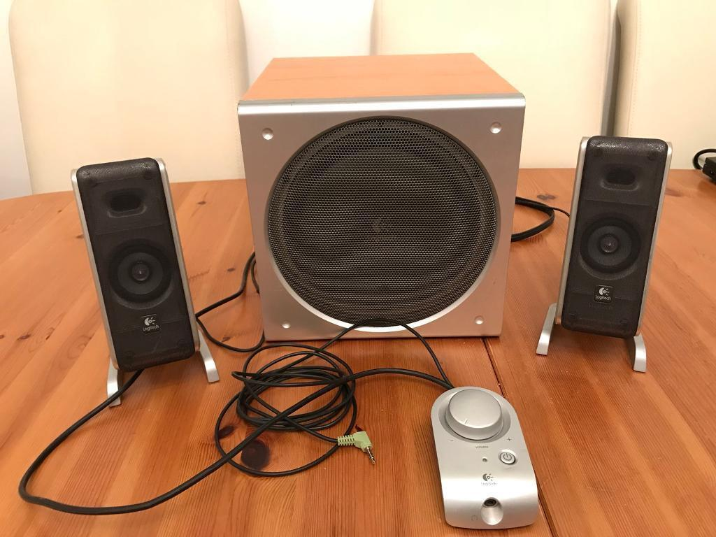 79361269d07 LOGITECH Z3 System with Subwoofer and Desk Speakers | in ...