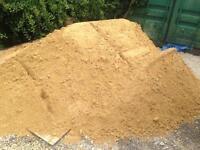 Soft sand. Building sand