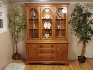 Maple China Hutch by Ethan Allen