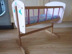 Baby Doll Toy Cradle