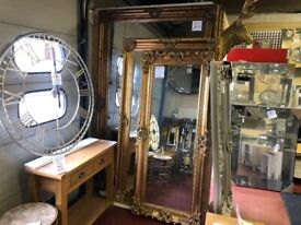 NEW Large Full length Carved Leaner Mirrors from £49-£499