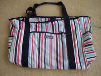 JoJo Maman Bebe buggy bag. Good clean condition. Striped pattern, useful large size