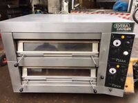 """CATERING COMMERCIAL 2 DECK QUALITY PIZZA OVEN 12 X 13"""" SWEDEN MADE CAFE SHOP TAKE AWAY RESTAURANT"""