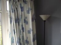 Bedroom / Lounge Lined Curtains With Tie Backs And Bed Valance 104 x 90 in (264 x 228cm)
