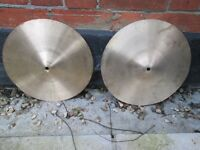 "Cymbals - 14"" Hi Hat Cymbals - Basic Beginners Type - Cheap Stand Available"
