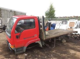 Nissan cabstar Breaking spare parts availble rear axel doors lights