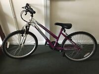 "Kids' 24"" front suspension mountain bike"