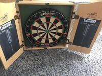 Phil Taylor Unicorn dart board and cabinet.