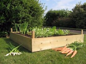 Timber Wooden Raised Bed Herb Planter Gardening