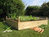 Timber Wooden Raised Bed Herb Planter Gardening