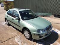 Rover 25 1.4 petrol. Very low mileage. Good service history. Great runner. Very economical car