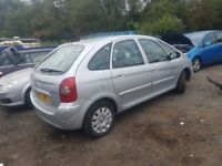 CITROEN XSARA PICASSO 2007 5 DOOR IN SILVER FOR BREAKING FOR SPARE PARTS ONLY