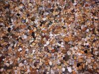 Fishtank aquarium natural pea shingle