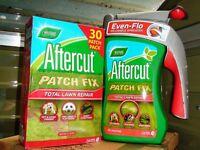 Aftercut Total Lawn Repair Patch Fix, New 2.4 kg pack + refillable 2 kg Spreader