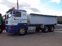 ERF SIX WHEELED TIPPER