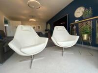 Dwell x2 Pivot Swivelling armchairs (cream) as new condition