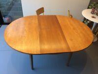 Vintage Mid century extendable round table