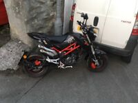 Benelli TNT 125cc all but brand new