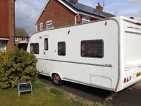 2007 ABBEY GTS 418 VOGUE 4 BERTH FIXED BED TOURING CARAVAN WITH MOTOR MOVER FULL AWNING.