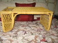 Two Wicker Bed Trays