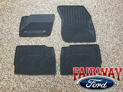 13 thru 16 MKZ OEM Genuine Lincoln Black Rubber All Weather Floor Mat Set 4 pc