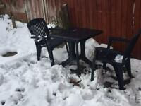 Patio/bistro table and 2 chairs