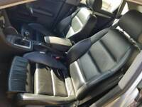 AUDI A4 B6 SPORT BLACK LEATHER ELECTRIC FRONT SEATS