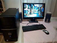 """DELL VOSTRO 220 DESKTOP PC AND 22"""" MONITOR"""