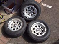 "Classic Mini minilite style wheels 10"""