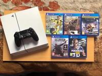 PLAYSTATION 4 PS4 CONSOLE 500GB WITH 5 GAMES (OPEN TO OFFERS)