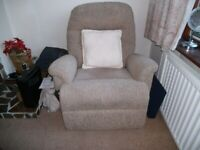 Recliner Chair - Electric Lift - Duel Motor - Sherbourne . V good condition - £300.
