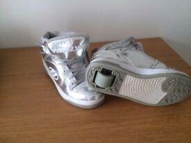 Silver Heeleys Size 3