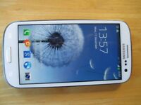 White 3G Samsung S3 Mobile phone unlocked in Good Condition