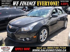 2011 Chevrolet Cruze LTZ Turbo RS PKGE| SUNROOF| HEATED SEATS| L