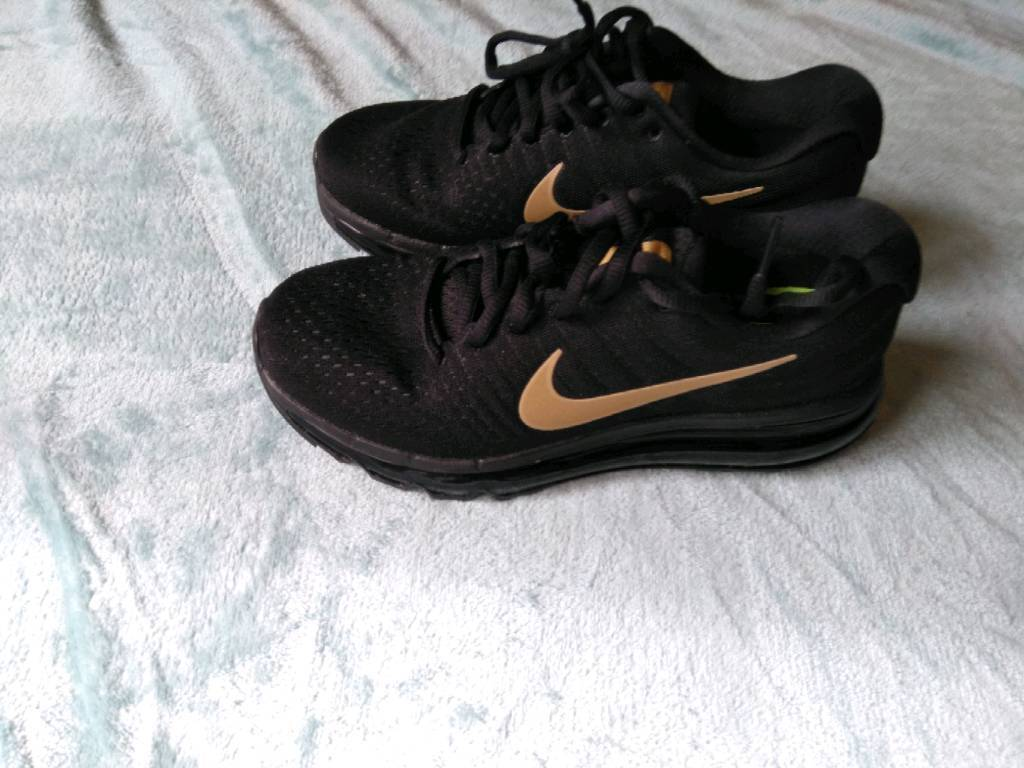 new style 689a6 4517e Nike air max 2107 black gold trainers size 4 worn once | in Livingston,  West Lothian | Gumtree