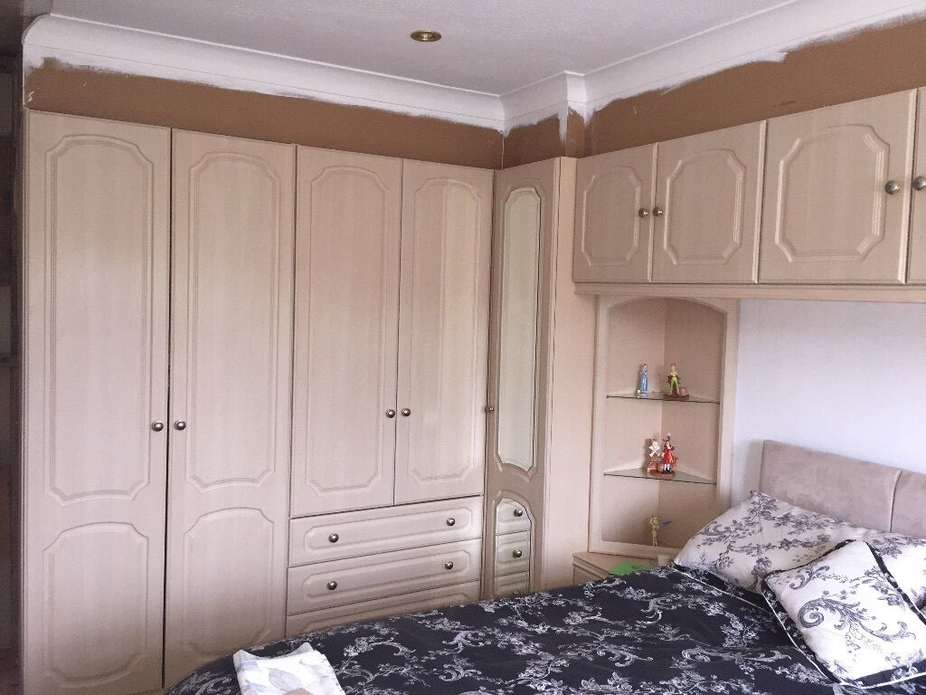 Bedroom Furniture Stoke On Trent Mfi Provence Fitted Wardrobes With Dressing Table Drawers In