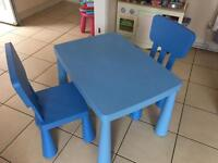 Ikea mammut kids table and chairs