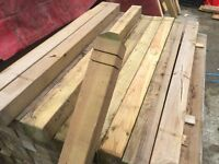 Treated Garden Decking Newel Posts or Picket Fence Posts