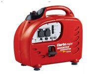 Clarke 2200 Inverter generator, 2 x 230v outlets, economy mode, just serviced, approx 40hrs use